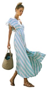 Turquoise & White Maxi Dress by Spell & the Gypsy Collective Bohemian Maxi Never Worn