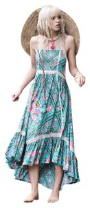 Turquoise Maxi Dress by Spell & the Gypsy Collective Bohemian Maxi Flowy Never Worn