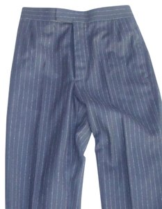 Brooks Brothers Straight Pants Dark Navy Blue with Pinstripe