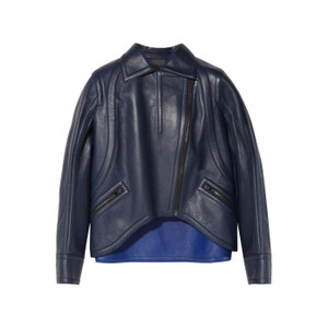 Fendi Moto Leather Navy Leather Jacket