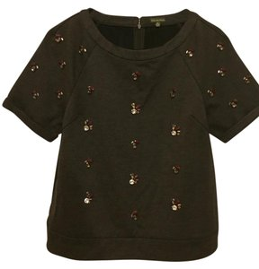 The Letter Top grey burgandy