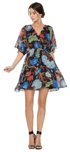 Alice + Olivia short dress Amber Multi-color Batwing Print Floral Flowy on Tradesy