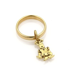 Pomellato Animated Figure Charm 18k Gold Band Ring