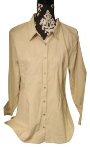 J. Jill Button Down Shirt Almond/cream