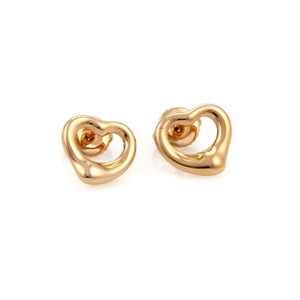 Tiffany & Co. #19093 Tiffany & Co. Peretti Open Heart 18k Rose Gold Earrings