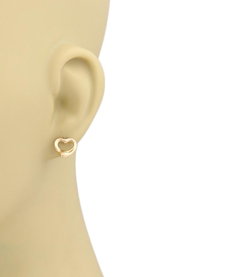 Elsa Peretti Open Heart 18k Rose Gold Earrings 12345