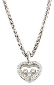 Chopard 20203 - Happy Diamond 18k Gold Diamond Bezel Heart Pendant