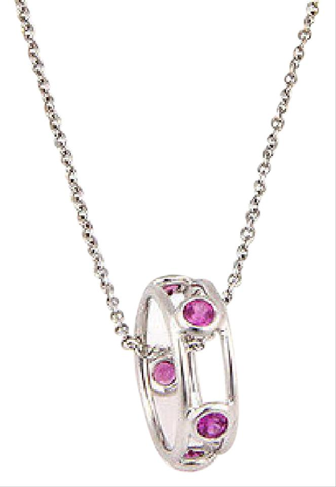 Tiffany co white gold elsa peretti by the yard pink sapphire elsa peretti by the yard pink sapphire pendant 18k gold necklace aloadofball Choice Image