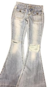 Carmar Flare Leg Jeans-Light Wash