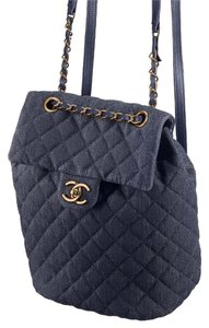 Chanel Denim Spirit Large Backpack