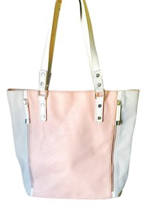Charming Charlie Tote in Pink & White