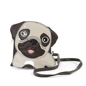 Sleepyville Critters Pug Faux Leather Cross Body Bag