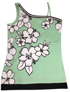 Justice Top Mint green/black/white