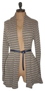Anthropologie Knit Striped Open Front Spring Cardigan