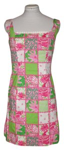 Lilly Pulitzer short dress Pink Sleeveless Floral Butterfly on Tradesy