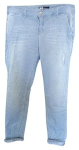 SOLD Design Lab Pinstripe Distressed Skinny Jeans-Light Wash