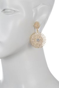 Vince Camuto Vince Camuto Pave Starburst Drama Drop Earrings Gold