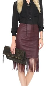 Elizabeth and James Skirt burgundy