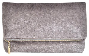 Bam Forever Faux Fur gray Clutch