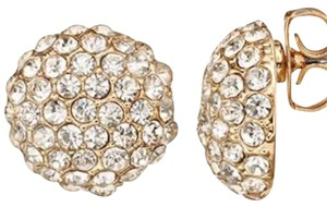 Duchess of Dazzle Genuine crystal 14K gold-plated stud earrings