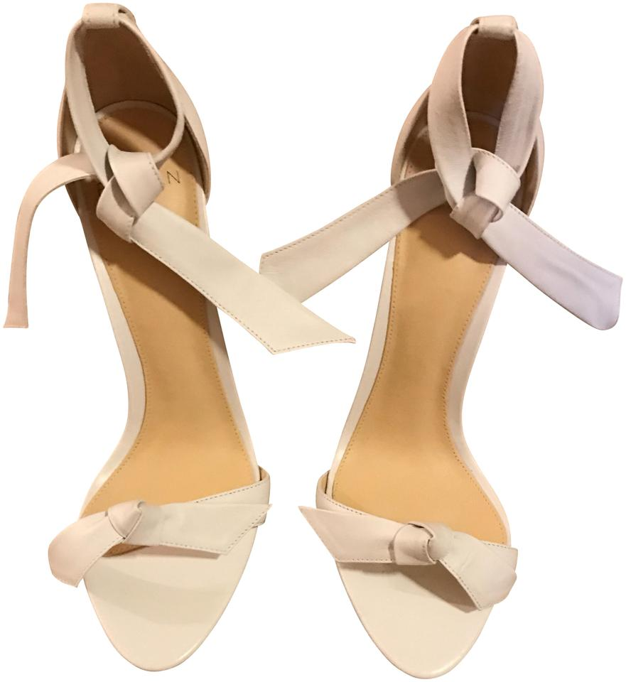 Alexandre Birman Embellished White Leather Clarita Bow Embellished Birman Sandals 500dcc