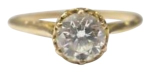 Other Fine Vintage Round Cut Diamond Solitaire Yellow Gold 0.74CT