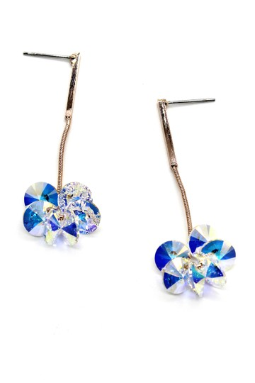 Ocean Fashion Sparkling hanging hammer swarovski crystal earrings