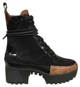 c911133185c4 Louis Vuitton Laureate Checkpoint Platform Combat Crocodile black Boots