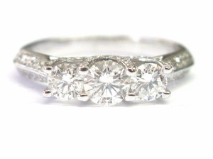Other Fine 3-Stone Diamond Engagement PAST PRESENT FUTURE Ring 1.28CT
