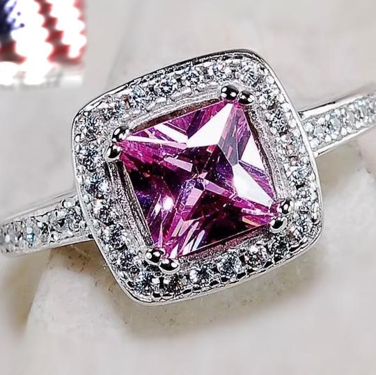 Other 925 pink sapphire & white topaz ring
