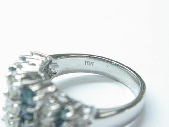 Other 18Kt Multi Color Diamond 3-Row Band Ring White Gold 2.20CT