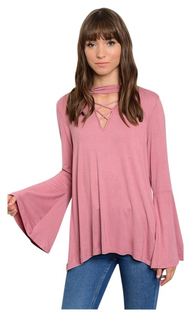 Other Bell Sleeve Choker Bohemian Soft Cutout Tunic