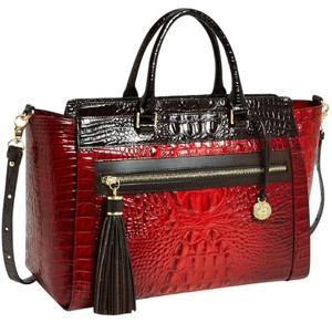 Brahmin Satchel in Ruby Tri Color