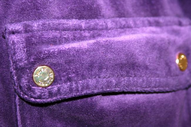 Juicy Couture 2000s Throwback Velour Tracksuit Sweatpants Athletic Pants Purple