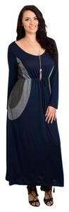Navy Maxi Dress by Other Plus Size Curvy Work Professional Maxi