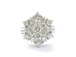 Other Fine Round Cut Diamond Cluster 19-Stone White Gold Ring 1.50Ct Sz 7