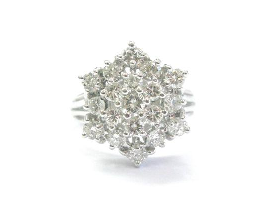 Preload https://item4.tradesy.com/images/fine-round-cut-diamond-cluster-19-stone-white-gold-150ct-7-ring-21067323-0-0.jpg?width=440&height=440