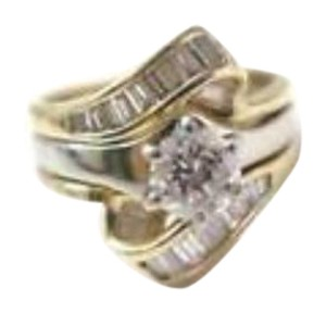 Other Fine Engagement Thick Diamond Solitaire Ring 14KT 1.06C