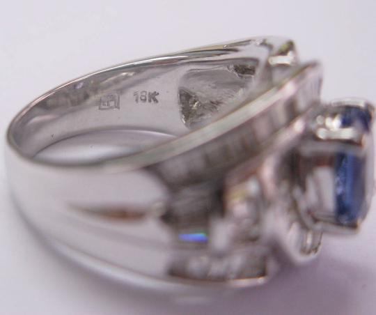 Other 18KT Gem Tanzanite Baguette Diamond Anniversary Ring WG 2.84CT