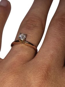 Kay Jewelers Rose Gold Solitare