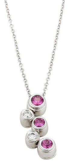 Preload https://img-static.tradesy.com/item/21067358/tiffany-and-co-white-pink-bubble-collection-sapphire-diamond-platinum-pendant-necklace-0-1-540-540.jpg