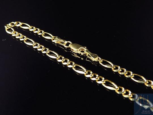 Other 14k Yellow Gold 3MM Figaro Chain Necklace Lobster Clasp 16 Inches