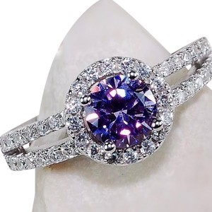 Other 925 2CT amethyst & white topaz ring