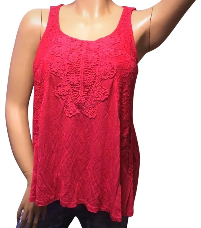 1ab7d9c4fd603 Cupio Pink New Lace Summer Tank Top Cami Size 8 (M) - Tradesy