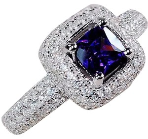 Other 925 1CT amethyst & white topaz ring