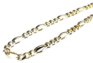 Other 10K Yellow Gold 3MM Figaro Chain Necklace Lobster Clasp 16 Inches