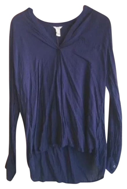 Preload https://item3.tradesy.com/images/forever-21-navy-blue-blouse-size-12-l-21067497-0-1.jpg?width=400&height=650
