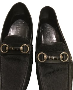 Dior Christian Monogram Black Flats