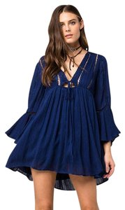 Free People short dress navy combo on Tradesy
