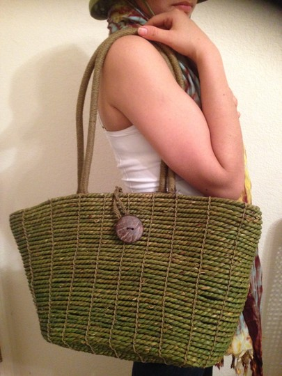 Other Unique Hand Made Trendy Tote in Green